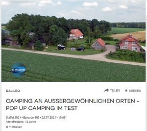 Video Galileo Pop up Camping